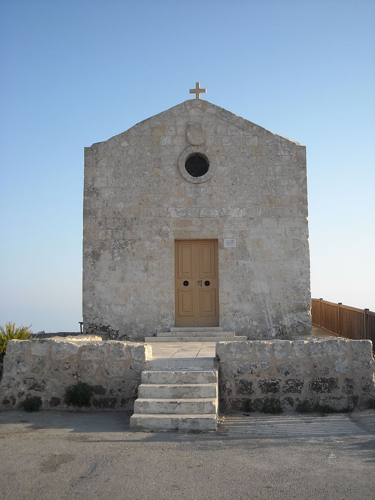Photo: Cruccone (Image: Magdalene Chapel, Dingli cliffs, Malta.) CC-BY-SA-3.0 (http://creativecommons.org/licenses/by-sa/3.0/)%5D, via Wikimedia Commons