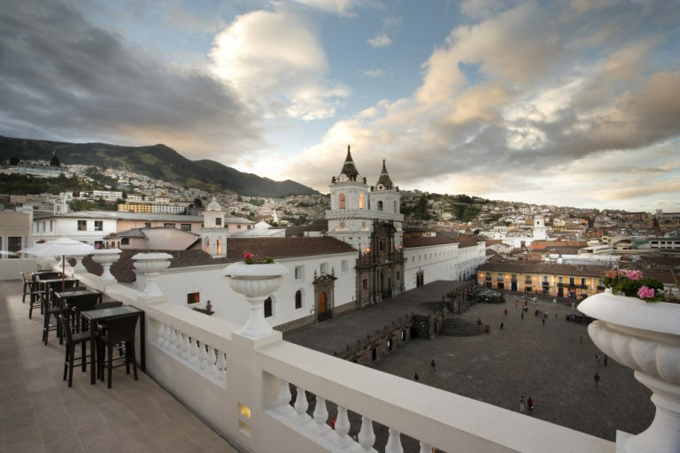 Photo: Casa Gangotena Boutique Hotel in Quito Ecuador